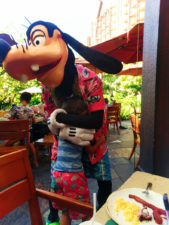 Taylor Family with Goofy Character Dining at Disney Aulani 1