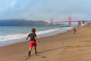 Taylor family at Golden Gate Bridge from Baker Beach GGNRA San Francisco 16