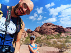 Taylor family hiking at Two Buttes at Papago Park Phoenix Tempe 1