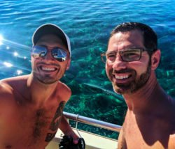Taylor family on catamaran off Oahu 1
