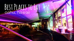 The best places to eat on Oahu: from poke to kalua pork, trying local favorites to the North Shore's Hawaiian food trucks. 2traveldads.com