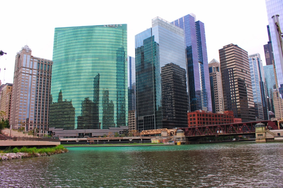 Chicago Skyline from Architecture Boat Tour Downtown Chicago 4