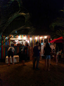Crowds at Haleiwa Food Trucks North Shore Oahu 3