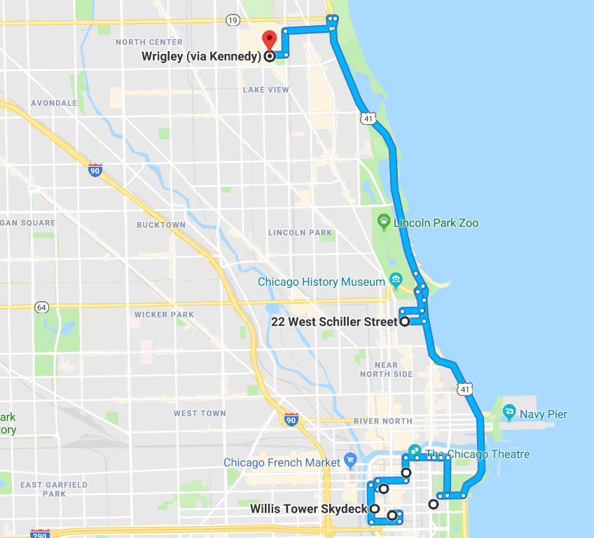 Ferris Buellers Day Off Map 2