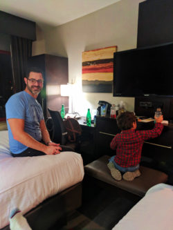 Taylor Family staying at Holiday Inn Manhattan Financial District