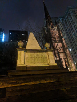Alexander Hamilton grave Trinity Church Wall St NYC