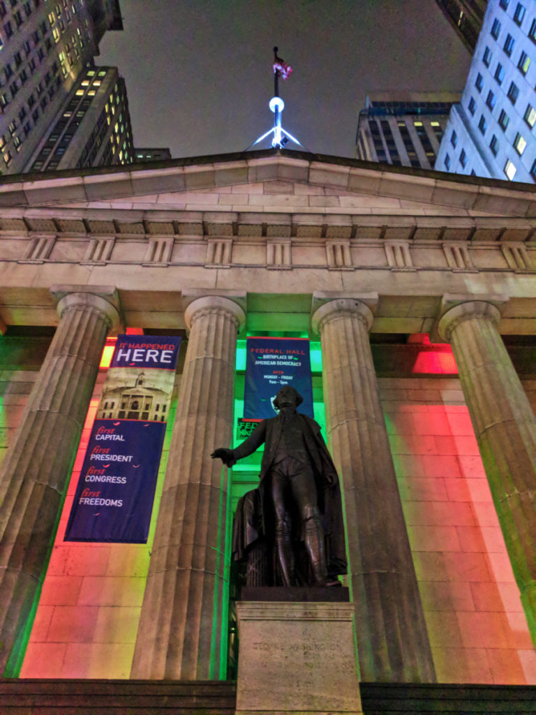 Federal Hall National Monument at Christmas NYC