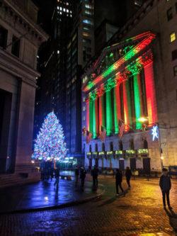 New York Stock Exchange at Christmas NYC