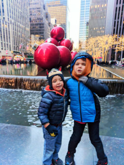 Taylor Family exploring Midtown Manhattan at Christmas