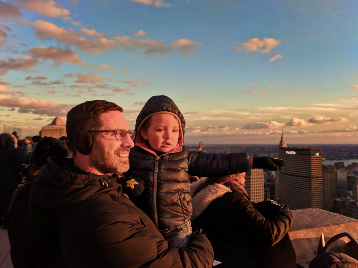 Taylor Family doing Top of the Rock CityPASS NYC