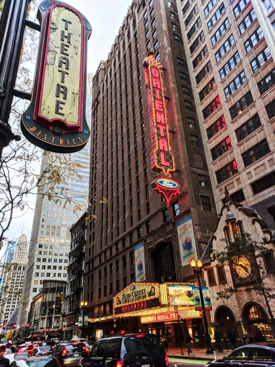 Oriental Theater District Downtown Chicago 1
