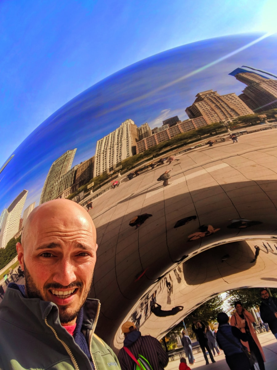 Rob Taylor at the Bean Millennium Park Magnificent Mile Downtown Chicago 2