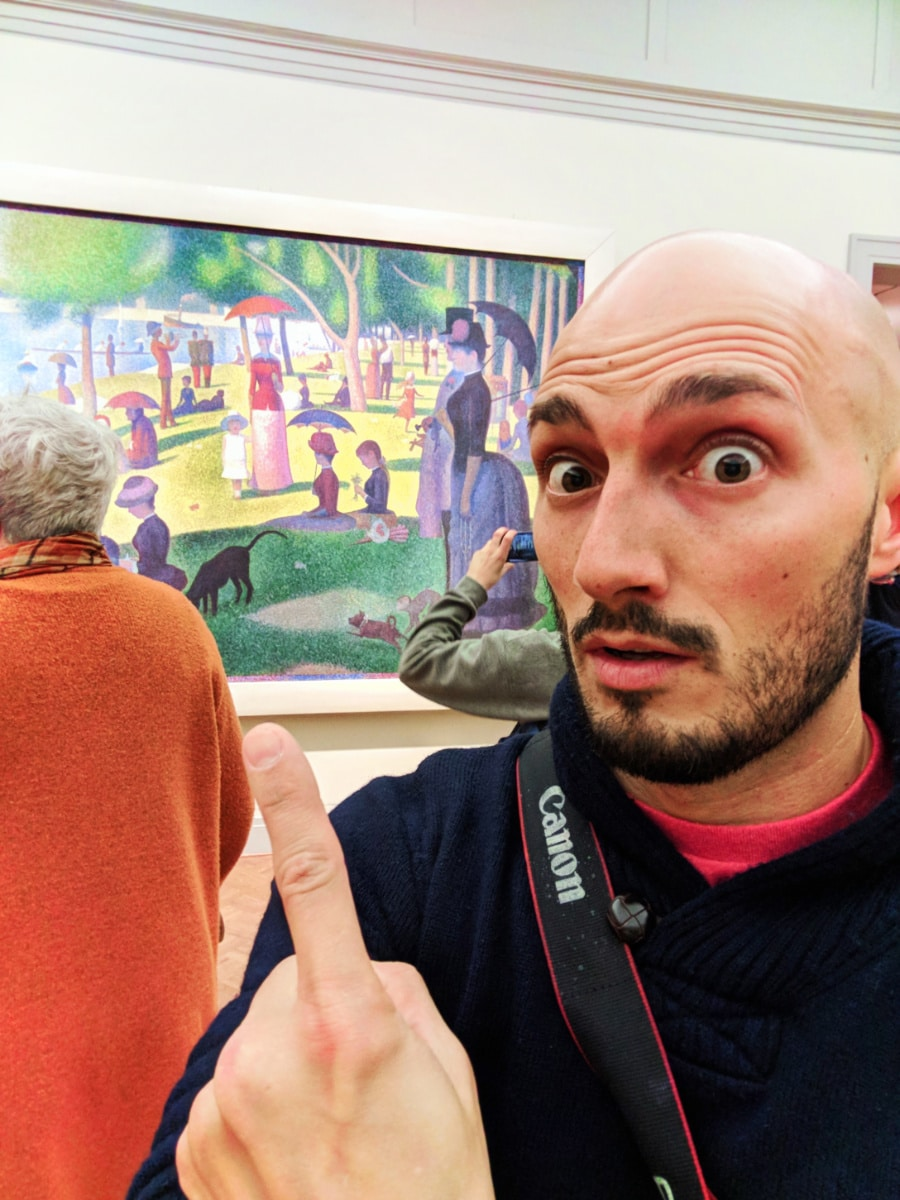 Rob-Taylor-with-Georges-Suratt-Sunday-Afternoon-at-La-Grande-Jatte-Art-Institute-of-Chicago-1.jpg