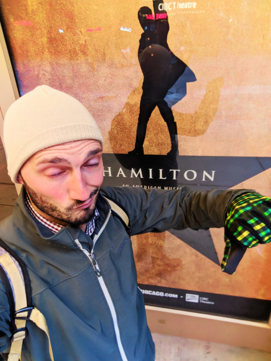 Rob Taylor without Hamilton tickets Theater District Downtown Chicago 1
