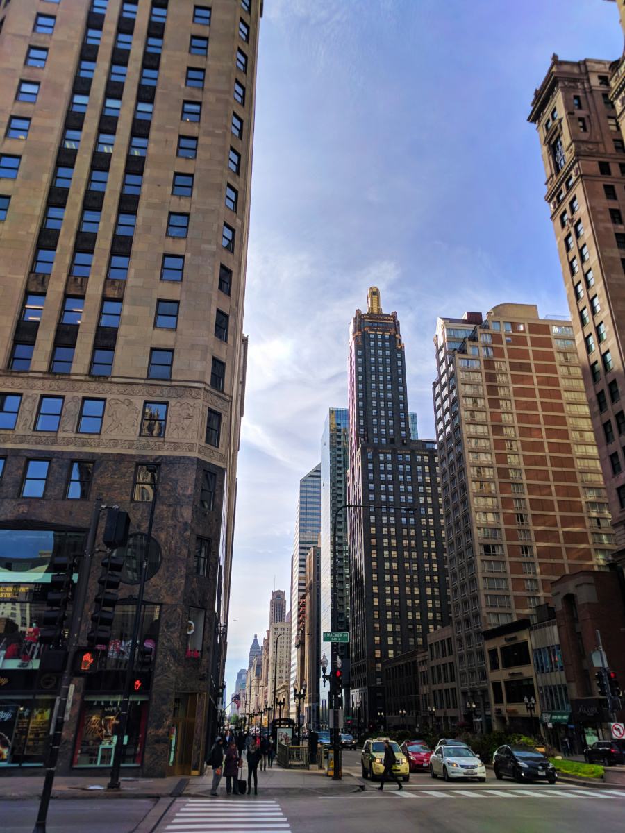 Tall Buildings on Michigan Ave Magnificient Mile Downtown Chicago 3