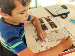 Taylor Family doing Junior Ranger Program WorldSchooling 6
