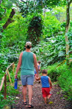 Taylor Family hiking at Waimea Valley North Shore Oahu 9