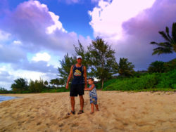 Taylor Family playing at Sunset Beach Haleiwa North Shore Oahu 6