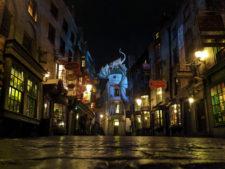 Diagon Alley Universal Studios Florida Orlando Empty at night 1