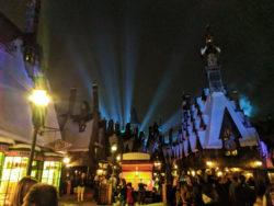 Hogsmeade at Night Wizarding World of Harry Potter Islands of Adventure Universal Orlando 4