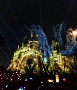 Hogwarts at Night Wizarding World of Harry Potter Islands of Adventure Universal Orlando 8