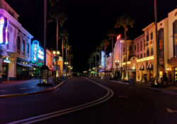 Hollywood Blvd Universal Studios Florida Orlando at night 2