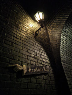 Knockturn Alley Diagon Alley Universal Studios Florida Orlando Empty at night 1