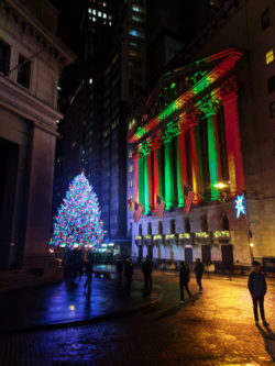 New York Stock Exchange at Christmas Wall Street Lower Manhattan NYC 3