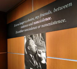 Non-violence quote at Martin Luther King Jr National Historic Site Atlanta 1