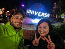 Rob Taylor and friend at Universal Globe Universal City Walk Orlando 1