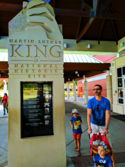 Taylor Family at Entrance to Martin Luther King Jr National Historic Site Atlanta 3