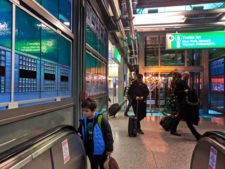Taylor Family at Newark Airport AirTrain station 1