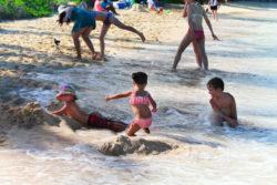 Taylor family at beach Lanikai Kailua Oahu 17