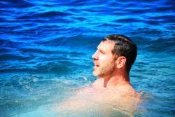 Taylor family swimming off catamaran off Oahu 1
