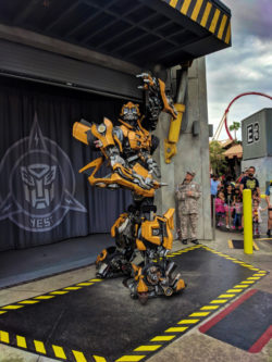 Transformers Bumble Bee in Hollywood at Universal Studios Florida Orlando 1