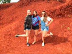 2DadsWithBaggage Family at Red Dirt Waterfall Kauai Hawaii 1