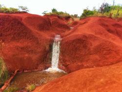 2DadsWithBaggage Red Dirt Waterfall Kauai Hawaii 1