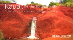 Finding off the beaten path Kauai isn't difficult if you know where to look. Caves, waterfalls, shave ice and more are just off the road on the Garden Island of Hawaii. 2traveldads.com