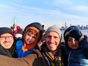 Taylor Family heading to Statue of Liberty via Liberty Cruises Ship New York City 4