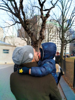 Taylor Family walking in Battery Park Lower Manhattan NYC with Kids 1
