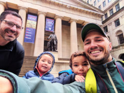 Taylor family at Federal Hall National Monument Wall Street Lower Manhattan NYC 1