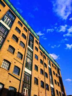 Brick and blue sky Shorditch London UK 1