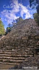 Visit Coba ruins for the best Mayan ruin experience near Canun. Very different from Tulum, see why Coba is so remarkable and how to plan a day trip to explore. #mexico #ruins #caribbean #yucatan