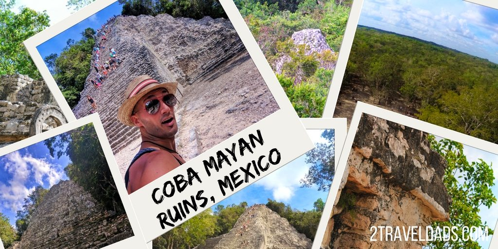 The Coba Ruins offer some of the best Mayan ruins on the Yucatan and are off the beaten path enough to feel unique and secluded. Near Tulum and Cancun, they are an easy day trip or see how to visit Coba Ruins on a Yucatan road trip. 2traveldads.com