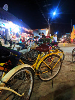 Downtown Holbox dirt roads at Night Isla Holbox Yucatan 5