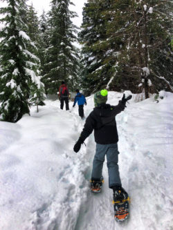 Emerald City Life Terumi Snowshoeing at Gold Creek Pond Snoqualmie Pass 3