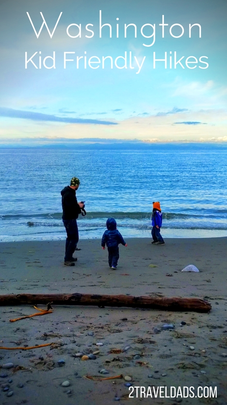 Kid friendly hikes in Washington State are plentiful. From hiking in the mountains to combing beaches, ancient forests to lush waterfalls, hiking in Washington is an adventure any time of year. 2traveldads.com