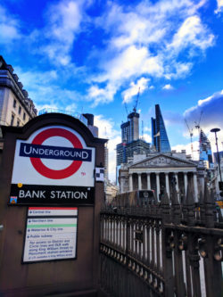 London Underground entrance London UK 1