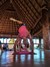 Participants practicing Yoga at Isla Holbox Yoga Retreat 4