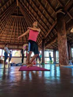 Participants practicing Yoga at Isla Holbox Yoga Retreat 5